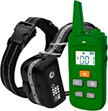 Professional 2020 K9 Dog Shock Training Collar with Remote Long-Range E-Collar with Shock, Vibration Control, Rechargeable & Fully IPX7 Waterproof for Small, Medium, Large Dogs, All Breeds