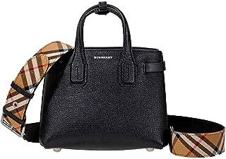 Womens Baby Banner Leather Signature Crossbody Handbag