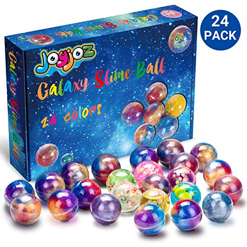 Joyjoz Galaxy Slime Schleim, 24 Pack Ei-Form Fluffy Slime Kit DIY Schleim, Stressabbau Lernspiel für Kinder und Erwachsene (Galaxy Slime)