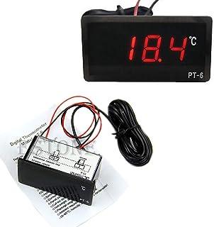 Termometer, het 12 V fordon bil LED digital termometer temperaturmätare sond -40 ~ 110 ° C.
