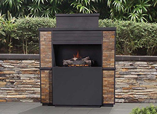 For Sale! Sunjoy 110505002 Matheson Fireplace, Black