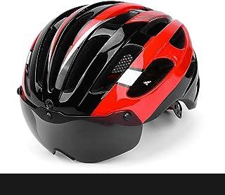602ebd9dbc QRY Seguridad Ciclismo de montaña Hombres y Mujeres Ciclismo Cascos Gafas  magnéticas Casco de Bicicleta de