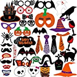 KUUQA Halloween Photo Booth Props Kit Halloween Party Decorations, Pack of 38