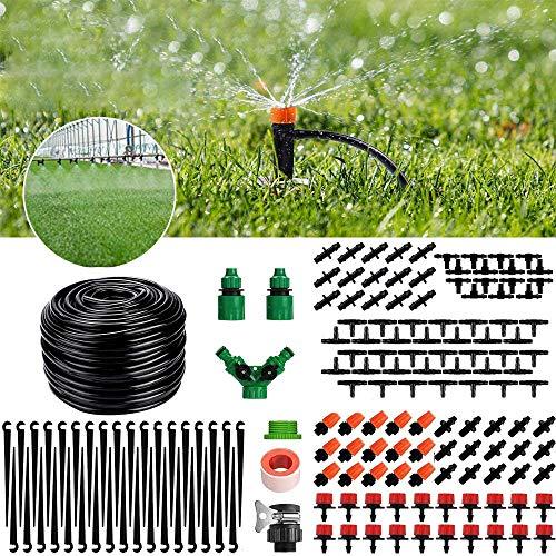 FeelGlad Bewässerungssystem Garten, 158PCS DIY Einstellbar Automatik 40M Mikro Drip Bewässerung Sbausätze für Landschaft, Flower Bed, Terrasse Pflanzen, Gewächshäuser, Gärten, Rasen