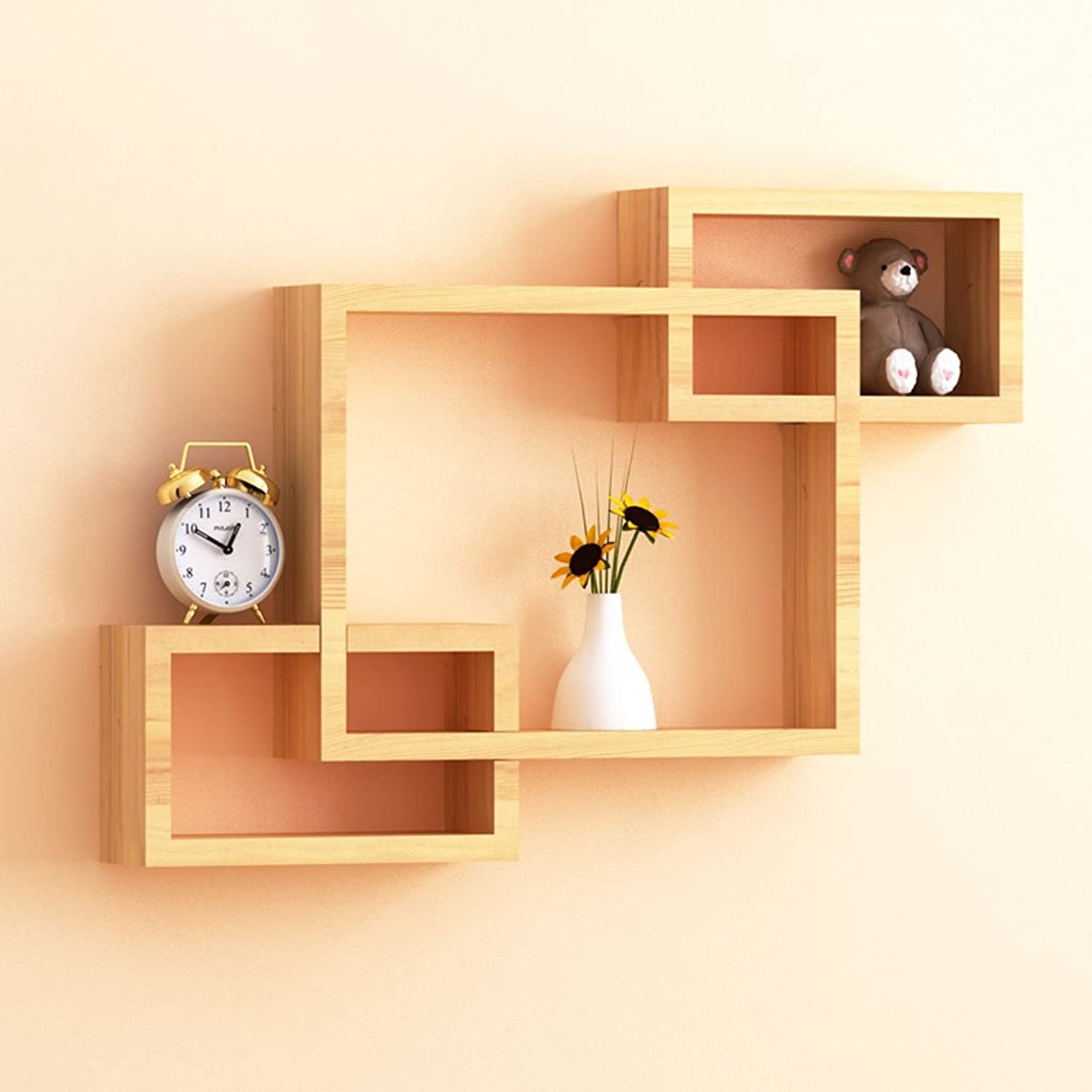 Wooden Wall-Mounted Shelves, Small Succulent Plants Stand, Width 9cm -by TIANTA