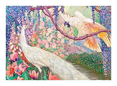 TXOZ-Q Maravilloso jardín Rompecabezas - Hermoso Pavo Real Rey y el Parrot - Madera 300/500/1000 Pieza- Cada Pieza es única, Piezas encajan Perfectamente Rompecabezas (Size : 1000pcs)