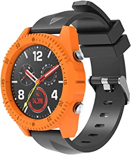 Dolloress Huawei Watch GT Case Cover, Hard PC Watch Frame+3X Tempered Glass Film Screen Protector Compatible with Huawei Watch GT