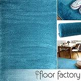floor factory Tappeto moderno Kolibri blu turchese 120x170cm - colori vivaci e facile da p...