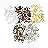 SiAura Material - 1000 viti filettate con occhiello per legno, 4 x 8 mm