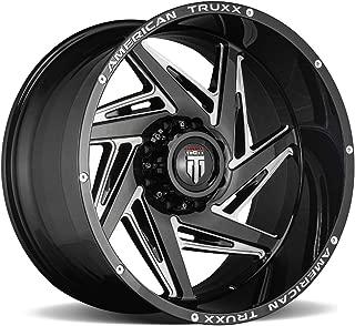 American Truxx AT1906 Spiral 24x14 8x170-76mm Black/Milled Wheel Rim