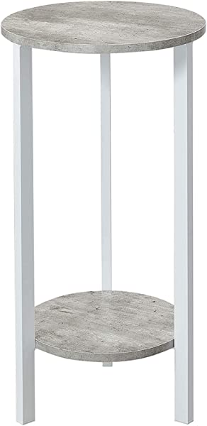 Convenience Concepts 111253C1WF Graystone Plant Stand 31 Faux Birch White
