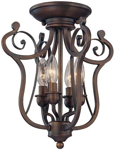 new arrival Millennium 1144-RBZ Four Light outlet online sale Semi-Flush Ceiling Mount, online sale Bronze/Dark outlet sale