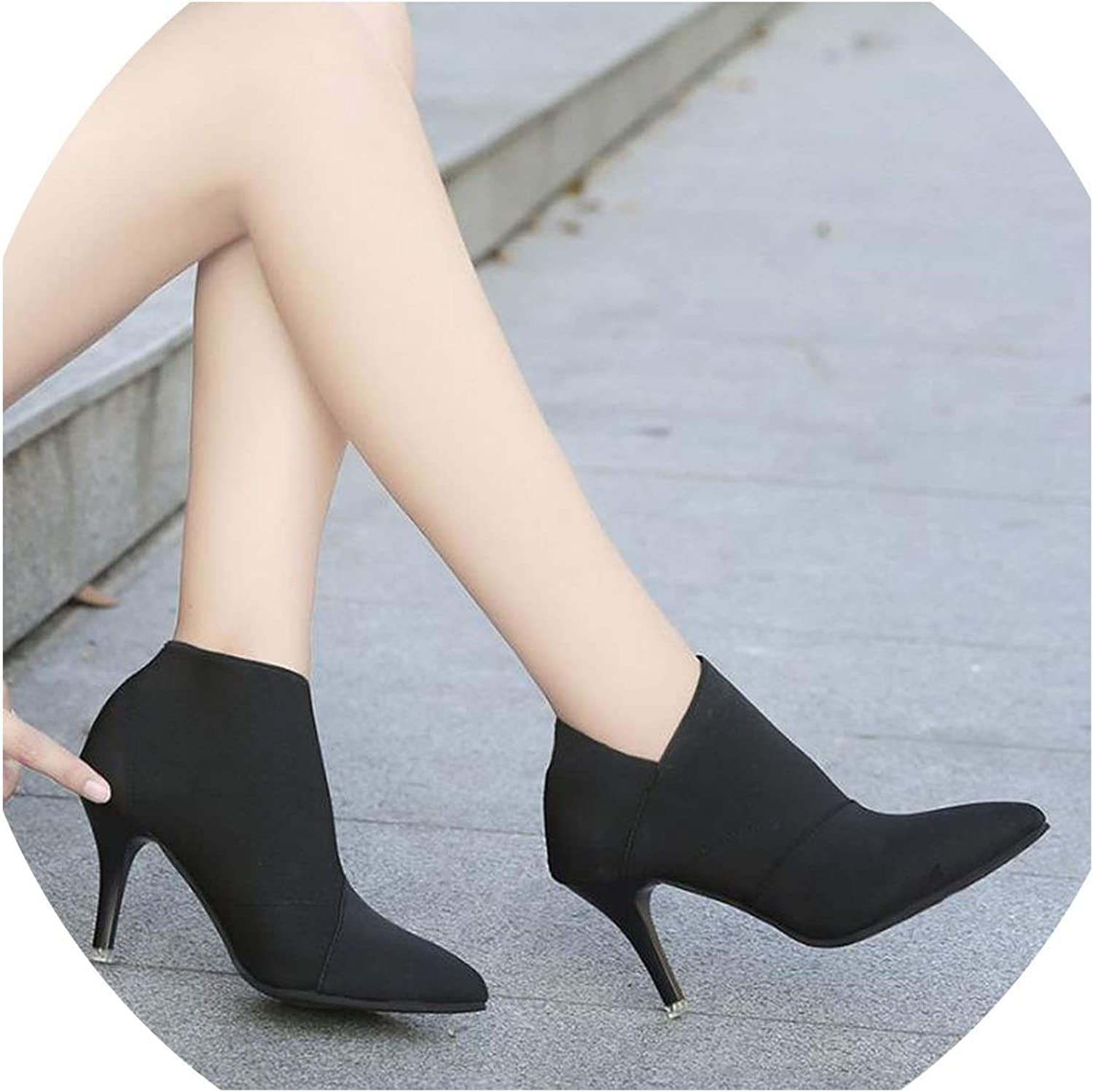 Pointed Toe High Heels Women Basic Casual Fitted Single Fashion Outwear shoes