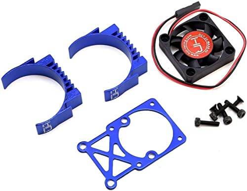 Hot Racing MH550TE06 Clip-On Two-Piece Motor Heat Sink W/ Fan (Blue)