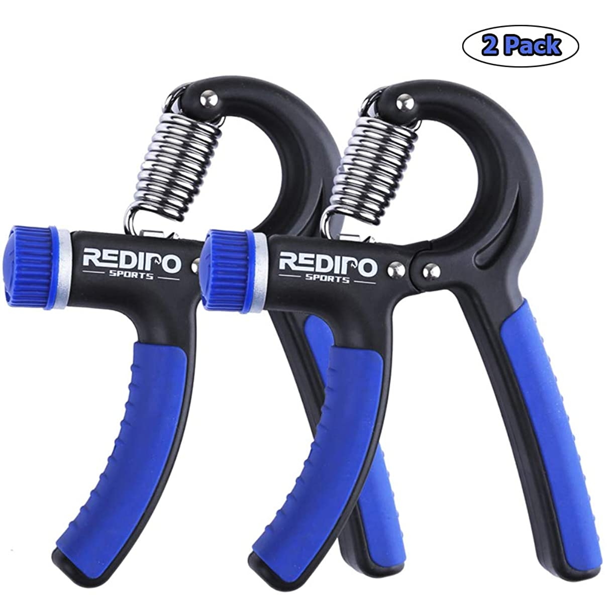 Hand Grip Strengthener - 2 Pack Forearm Exerciser Adjustable Resistance 20-90lbs Hand Squeezer for Men,Women - Grip Workout and Hand Rehabilitation