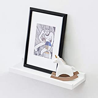 Sponsored Ad - HOMWOO White Floating Shelves Oak Solid Wood Small Wall Shelf Modern Design Picture Ledge for Home, Living ...