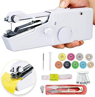 Handheld Sewing Machine Hand Sewing Machine Mini Handy Cordless Portable Sewing Machine Quick Repairing Stitch Tool for Be...