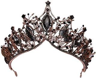 QinWenYan Corone Barocco Regina Corona for Le Donne corone diademi Strass Wedding Pageant Fotografia Teatro Partito per Pr...