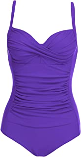Womens One Piece Swimsuit Elegant Inspired Vintage Pin up...