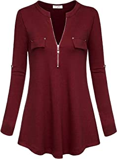 Hashoob Womens Long Sleeve Color Block Lightweight Pullover Sweatshirt Hoodies SW-02