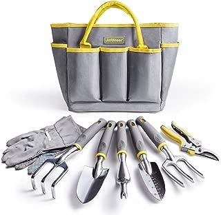 Jardineer Garden Tools Set, 8PCS Gardening Tools Kit with Hand Tools, Gardening Gloves and Garden Tools Bag, Perfect Garden Tools Giftsfor Men and Woman
