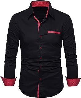 Men's Long Sleeve Dress Shirts-Regular Fit Casual Button Down Shirts
