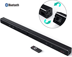 Sound bar for TV,Dolamee Bluetooth Wireless 2.0 Channel Surround Audio Speaker Dual Stereo 4 Drivers Bass Adjustable 80db for Home Theater/PC/Tablet,AUX/RCA/TF Card(Remote Control&Wall Mountable)