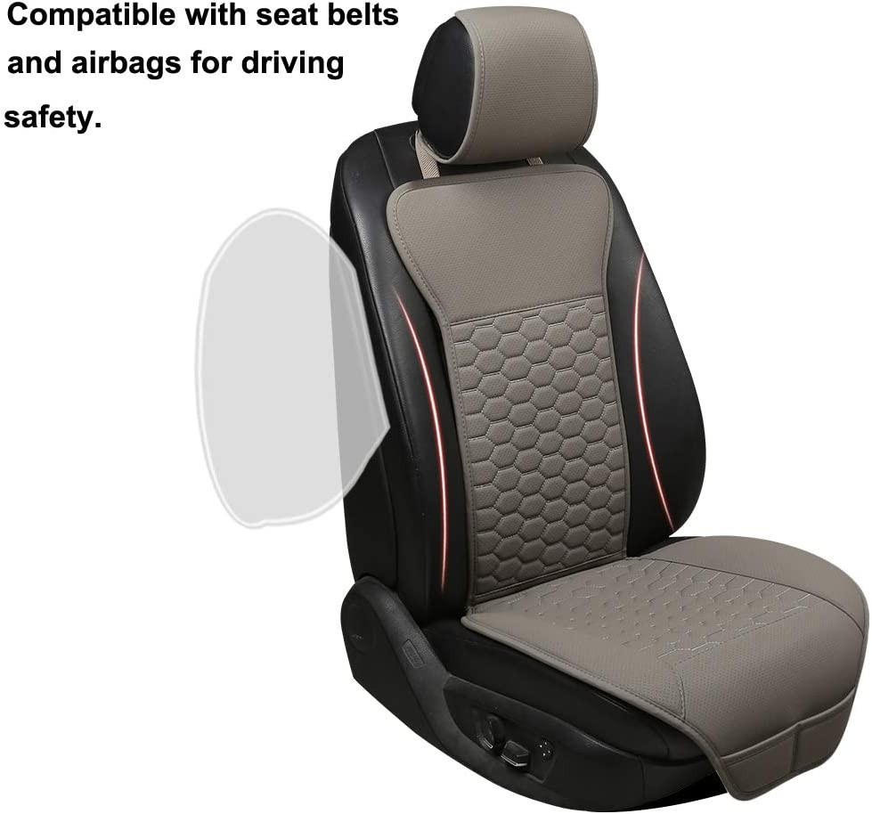 West Llama Universal Fit Premium Car Seat Cover Protector for Front Seats 1 Pack - Beige