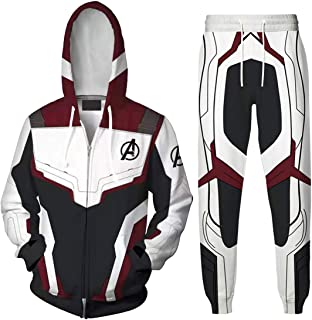 EMILYLE ボーイズ 子供 Avengers Endgame アベンジャーズ 3Dプリント 上下セット パーカー コート アメリカ 欧米 Quantum Realm 量子戦衣