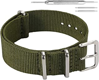 Colorful Classic Fashion NATO Style Ballistic Nylon Watch Band Strap Replacement for Men Women