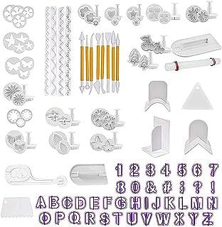 Queta 114 Pcs Outils de Décoration de Gâteau Set DIY Fondant Outils Ensemble Outils De Modelage Fondant Cutters Ustensile ...