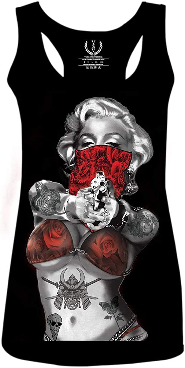 Marilyn Monroe Gangster Cool Graphic Good Ranking TOP6 Rose red free shipping Hipster Vibes