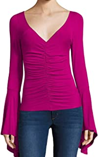 Womens What A Babe Knit Ruched Pullover Top