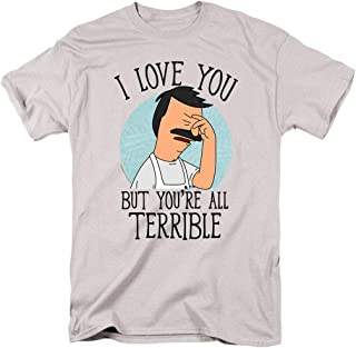 Bob's Burgers You're All Terrible T Shirt & Exclusive Stickers