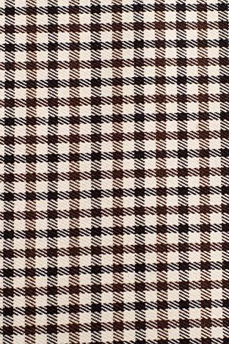 Vestido Midi de Cuadros Vichy en marrón, 38 |Metro