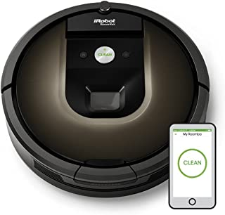 iRobot Roomba 980 Sin bolsa Negro aspiradora robotizada - aspiradoras robotizadas (Sin bolsa, Negro, Chocolate, Alfombra, C?mara, 120 min, 2 h)