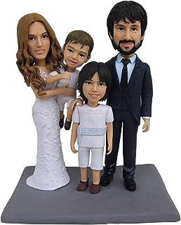 Favores de aniversario de boda Cake Toppers Regalo familiar Diseño personalizado Decoración para el hogar escultura mini e...