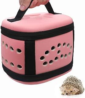 Portable Small Animal Guinea Pig Hedgehog Hamster Carrier Bag Box with Soft Mat Zipper Breathable Small Guinea Pig Chinchillas Hamster Hedgehog Car Carrier Case Handbag for Small Animals Carriers