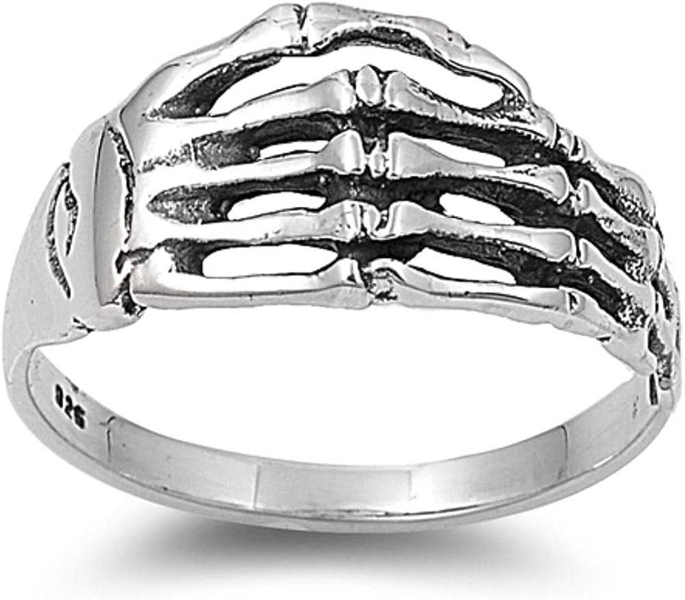 Sterling Silver Hand of New color the Hardcore Dead Skull [Alternative dealer] Ring