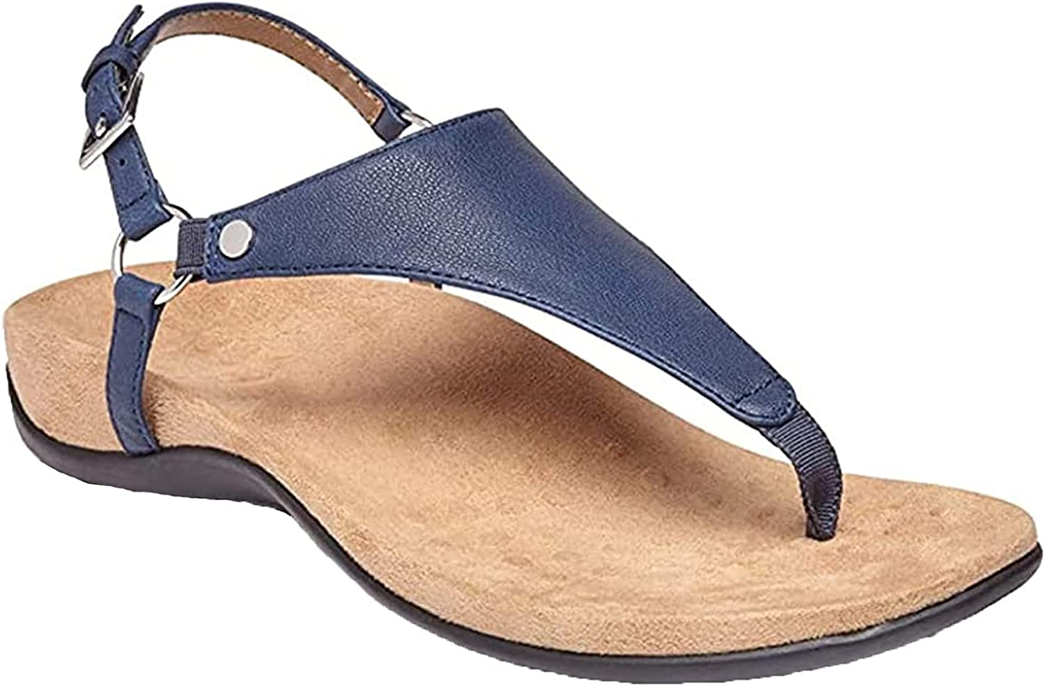 Women's Open Toe Thongs Sandals Clip Toe Sandals, Concealed Orthotic Arch Support Flip Flop