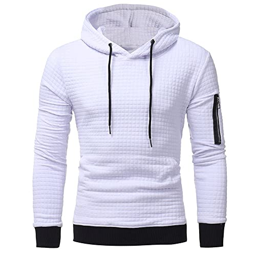 a436770ecbf GOVOW Plaid Shirt Men Autumn Long Sleeve Hoodie Hooded Sweatshirt Tops Jacket  Coat Outwear
