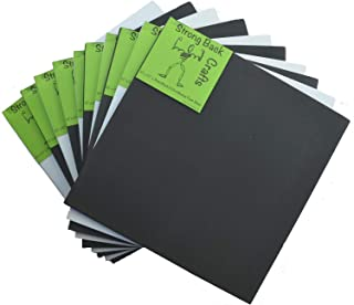5 Black & 5 White-(10 Pack)-6mm Thick Self-Stick Adhesive Foam Sheets 10