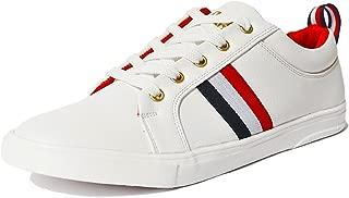 Gubatti Men's White/Red Flag Casual Shoes
