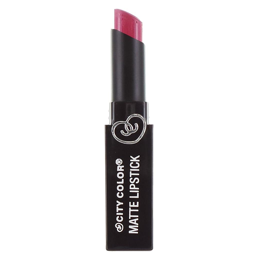 ブーム人形調整(3 Pack) CITY COLOR Matte Lipstick L0050A - Raspberry Sherbet (並行輸入品)