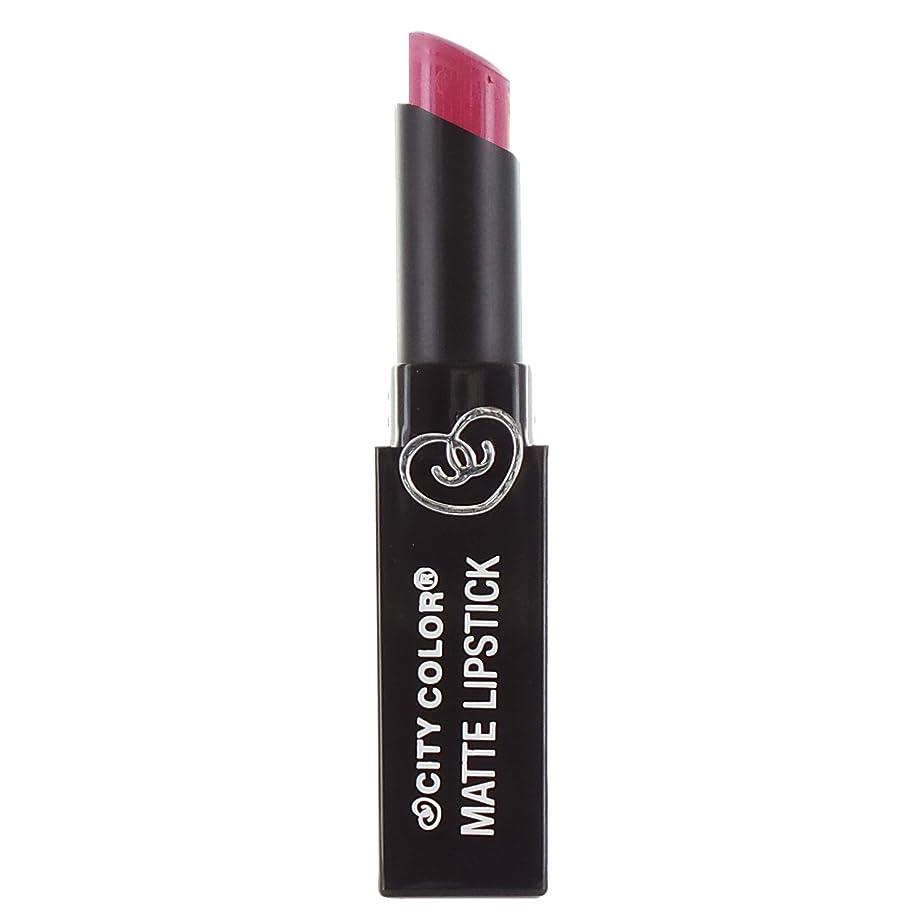 浸透する数字容量(3 Pack) CITY COLOR Matte Lipstick L0050A - Raspberry Sherbet (並行輸入品)