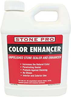 Stone Pro Color Enhancer - Unpolished Stone Sealer and Enhancer - 1 Quart