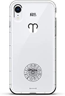 HOROSCOPE ARIES | Luxendary Air Series Clear Silicone Case with 3D printed design and Air-Pocket Cushion Bumper for iPhone XR (new 2018/2019 model with 6.1