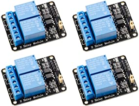 Qunqi 4pcs 5V 2 Channel 5V Relay Module with Optocoupler Low Level Trigger Expansion Board Compatible with R3 MEGA 2560 12...