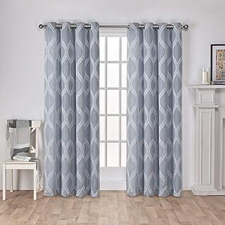 Exclusive Home Curtains Montrose Grommet Top Panel Pair, Steel Blue, 54x84, 2 Piece