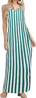ACHIOOWA Vestiti Donna Estivi Lunghi Casual Abiti Donna Estivi Lunghi Eleganti Vestito Donna Estivo Sexy Taglie Forti Abit...